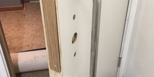 LAMINATED DOOR REPAIR HINGE CUT INCORRECTLY