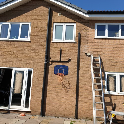 WINDOW FRAME SPRAY PAINTING COLOUR CHANGE MANCHESTER BEFORE