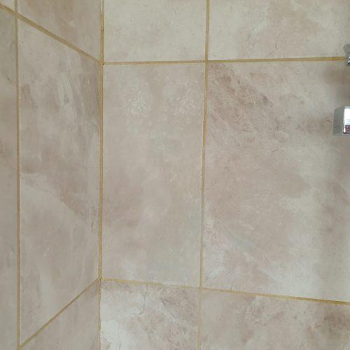MARBLE EFFECT BATHROOM WALL FLOOR SHOWER TILE SCREWHOLE REPAIR AFTER