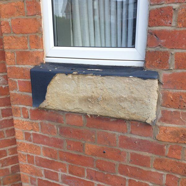 SAND STONE SILL CONCRETE SILL WINDOW SILL CRUMBLING REFURBISHMENT REPAIR 4