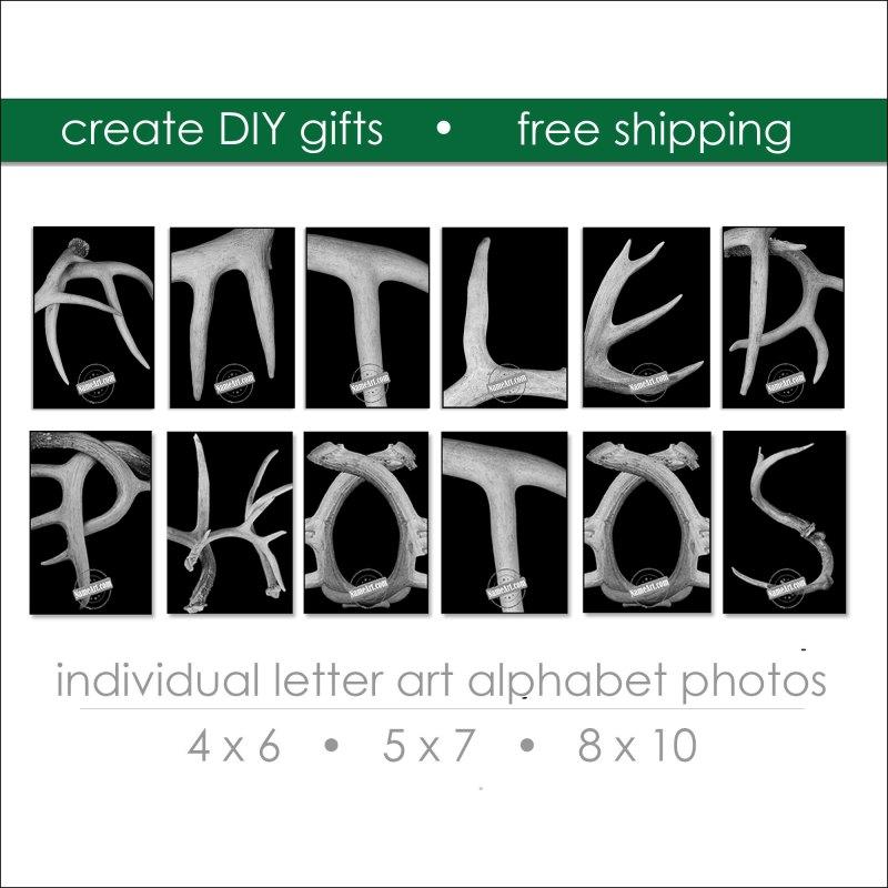 Antler Letter Art Prints