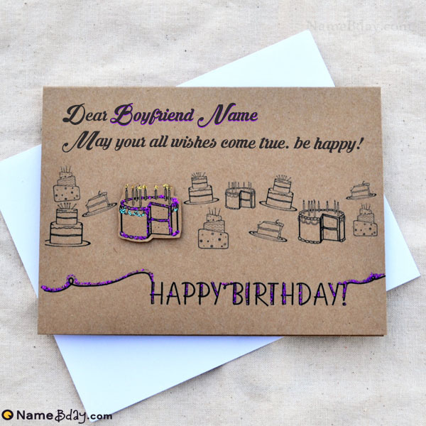 Happy Birthday Card For Boyfriend With Name And Photo