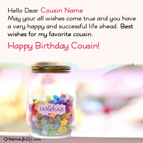 Happy Birthday Wishes For Cousin With Name And Photo