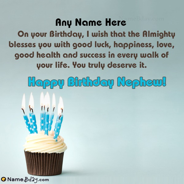 Special Birthday Wishes For My Nephew