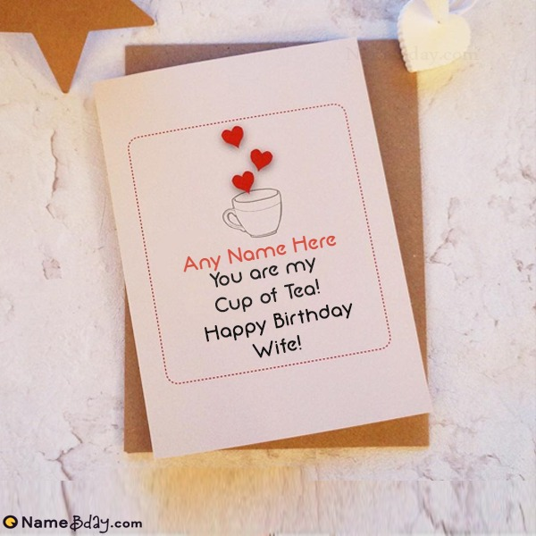 Download Wife Birthday Card With Name And Photo