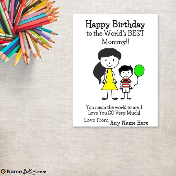 Happy Birthday Card For Mom From Son