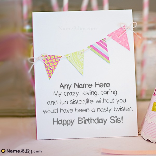 Free Download Birthday Cards For Sister With Name