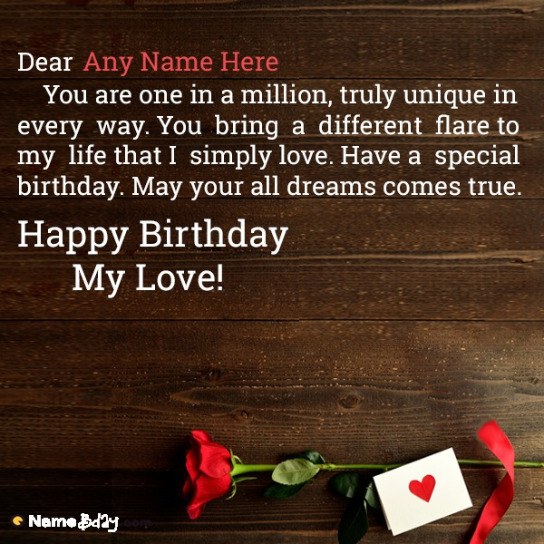 Happy Birthday Love Name Wishes For You