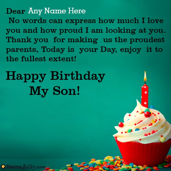 Online Happy Birthday My Son Images With Name