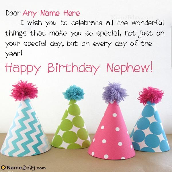 Say Happy Birthday Nephew With Name