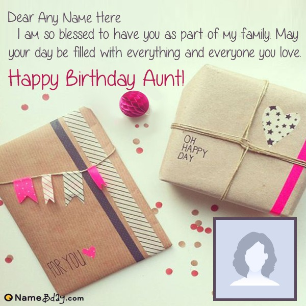 Free Birthday Card For Aunty With Name