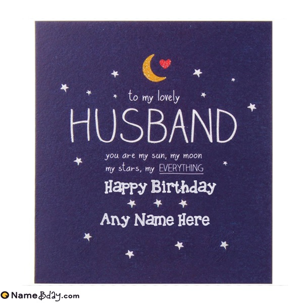 Online Birthday Greeting Cards For Husband With Name