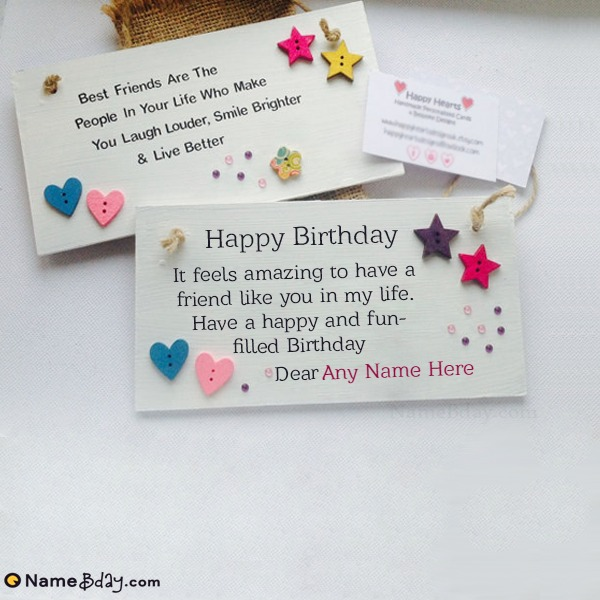 Birthday Cards For Best Friend With Name And Photo
