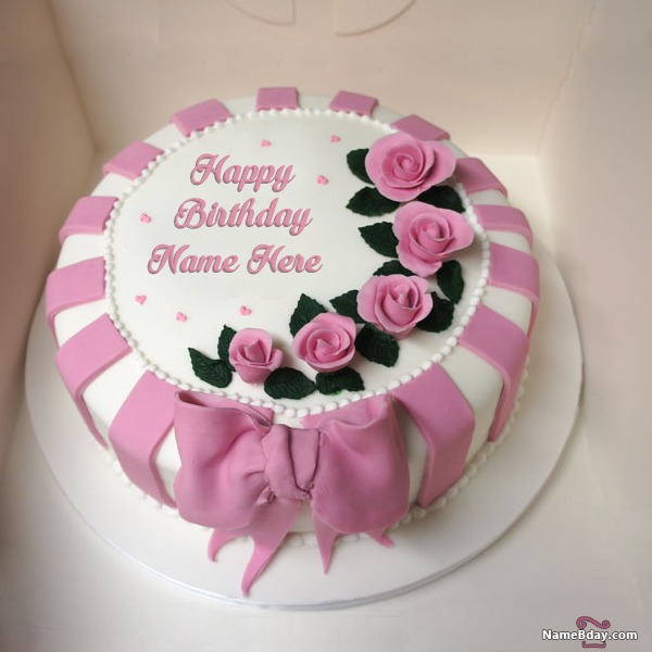 Write Name On Birthday Cake For Husband With Photo