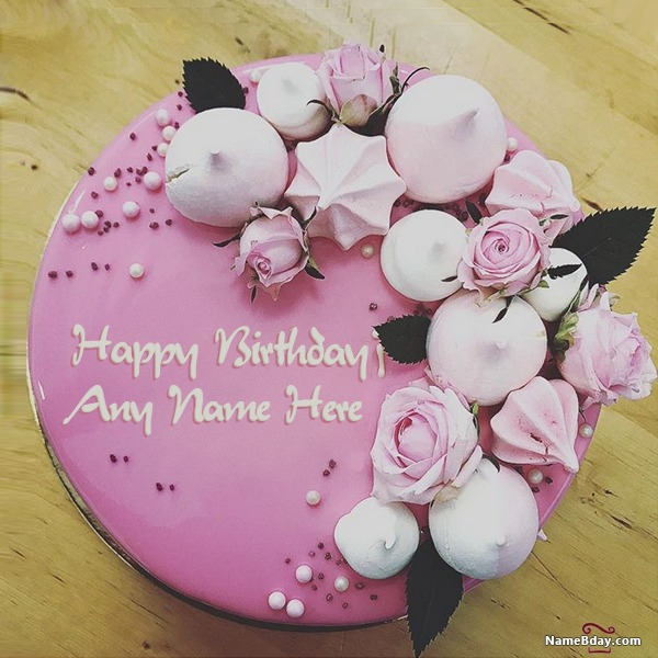Write Name On Birthday Cake For Sister With Photo