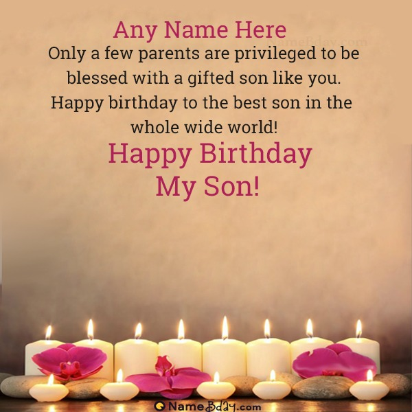 Write Name On Happy Birthday Son Images With His Photo