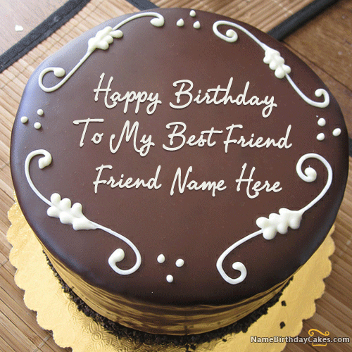 Happy Birthday Cake For Friend With Name
