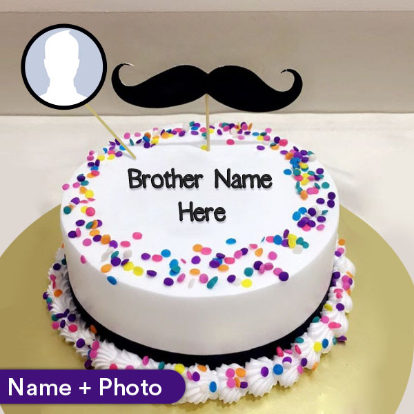 Birthday Cake For Brother With Name And Photo