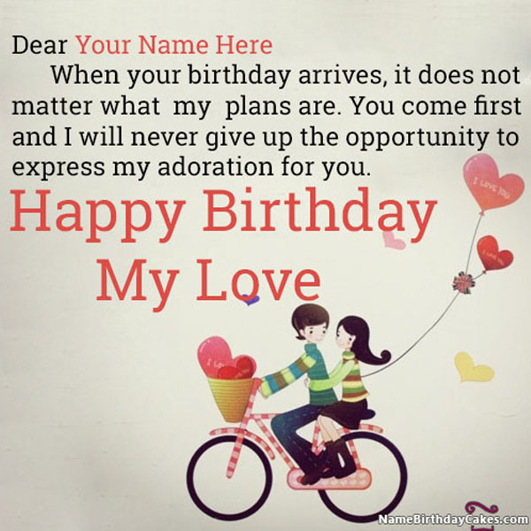 Happy Birthday Images For Lover With Name And Wishes