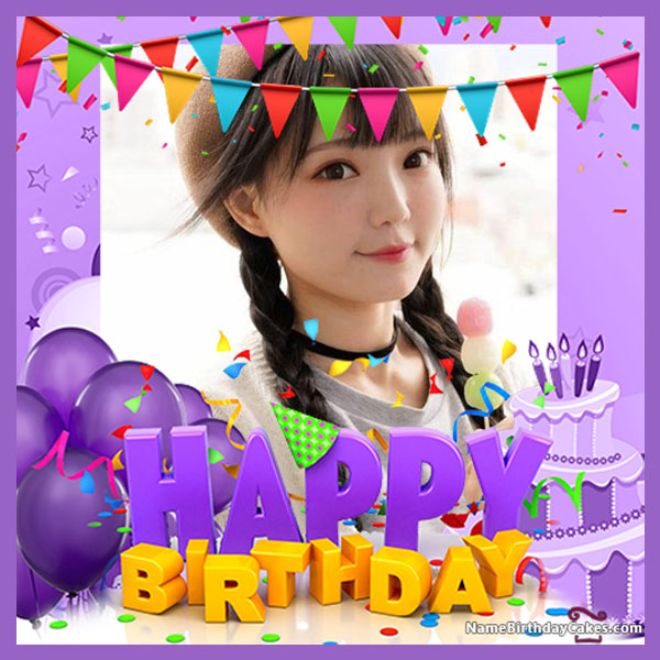 Online Happy Birthday Frame With Photo