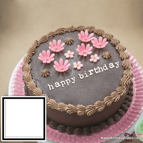 Happy Birthday Cake For Son With Name And Photo