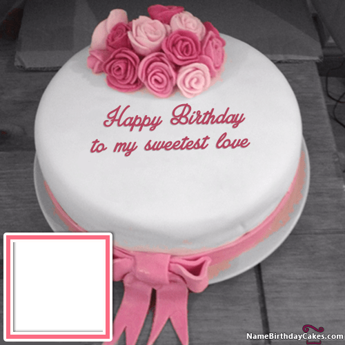 Happy Birthday My Love Cake With Name