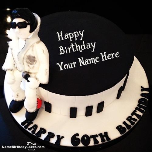 Amazing Men 60th Birthday Cake With Name