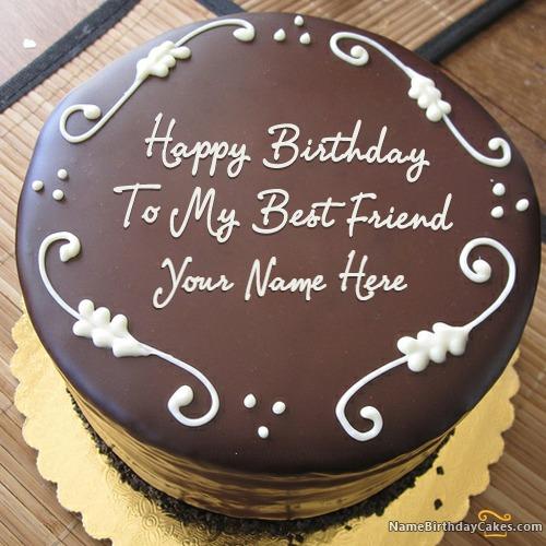 Happy Birthday To My Best Friend Cake With Name