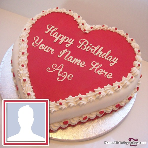 Big Birthday Cake With Name Age And Photo