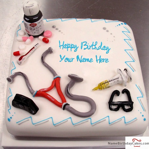 Birthday Cake For Doctor With Name
