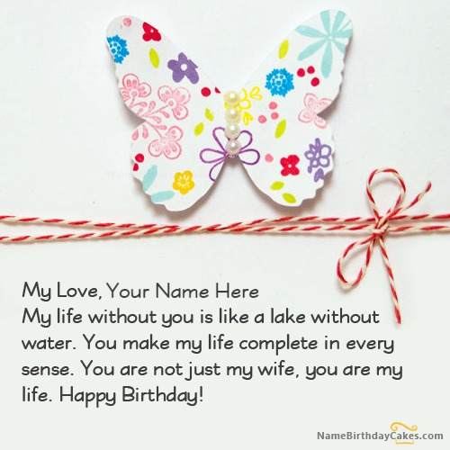 Happy Birthday Card For Wife Free Download