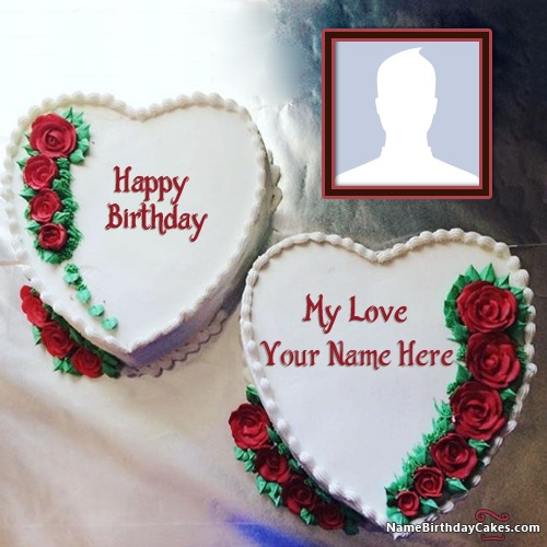 Send Love Cake With Name And Photo