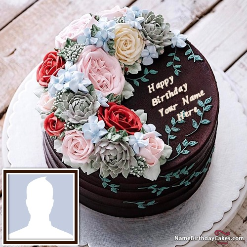Easy Chocolate Birthday Cake Images With Name
