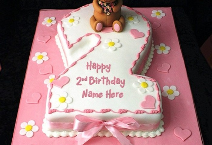 Create 2nd Birthday Cake With Any Name