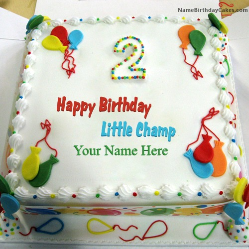 Happy 2nd Birthday Cake Images With Name