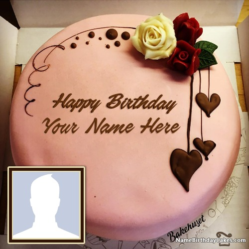 Stylish Name Editing Online On Birthday Cake