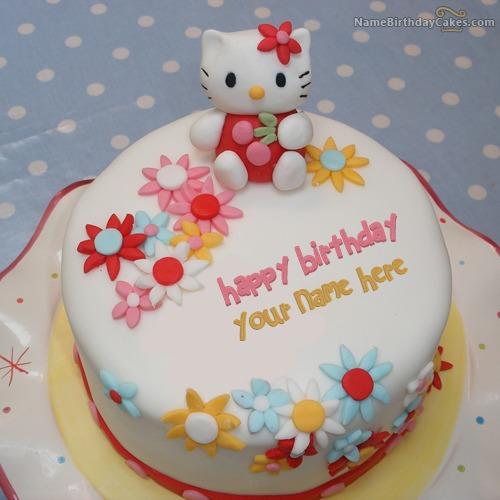Happy Birthday Kitty Cake With Name