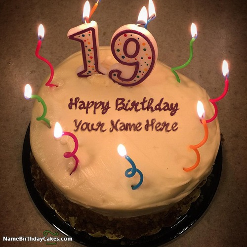 Birthday Cake Name Writing