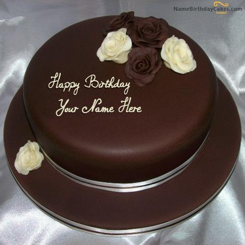 Rose Chocolate Birthday Cake