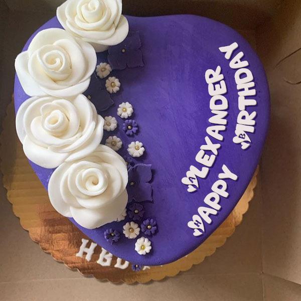 Happy Birthday Alexander Cakes Cards Wishes