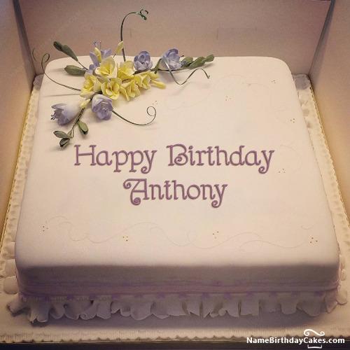 Happy Birthday Anthony Cakes Cards Wishes
