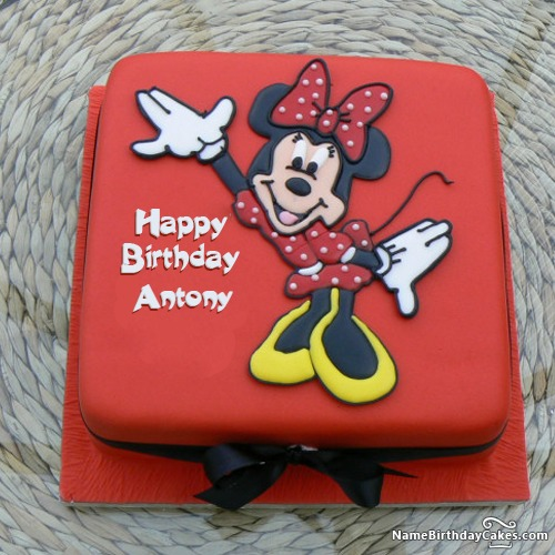Happy Birthday Antony Cakes Cards Wishes