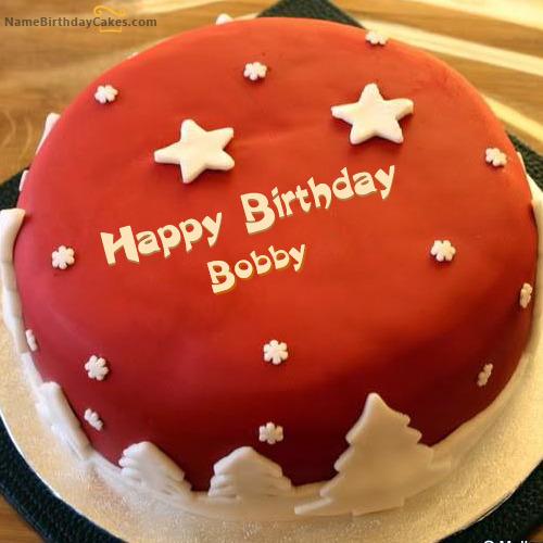 Happy Birthday Bobby Cakes Cards Wishes