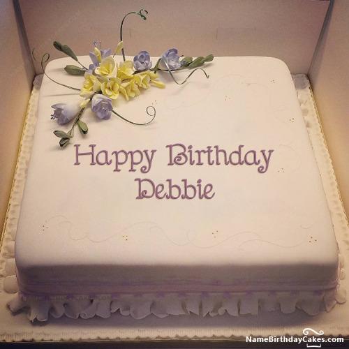 Happy Birthday Debbie Cakes Cards Wishes