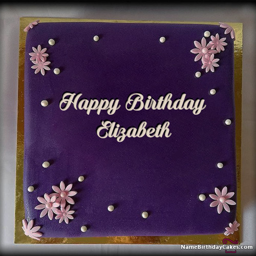 Happy Birthday Elizabeth Cakes Cards Wishes