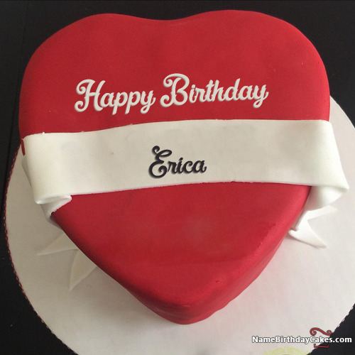 Happy Birthday Erica Cakes Cards Wishes