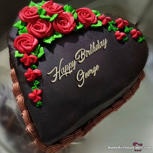 Happy Birthday George Cakes Cards Wishes