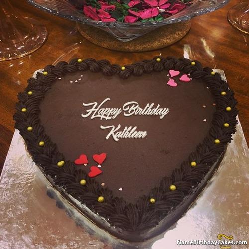 Happy Birthday Kathleen Cakes Cards Wishes