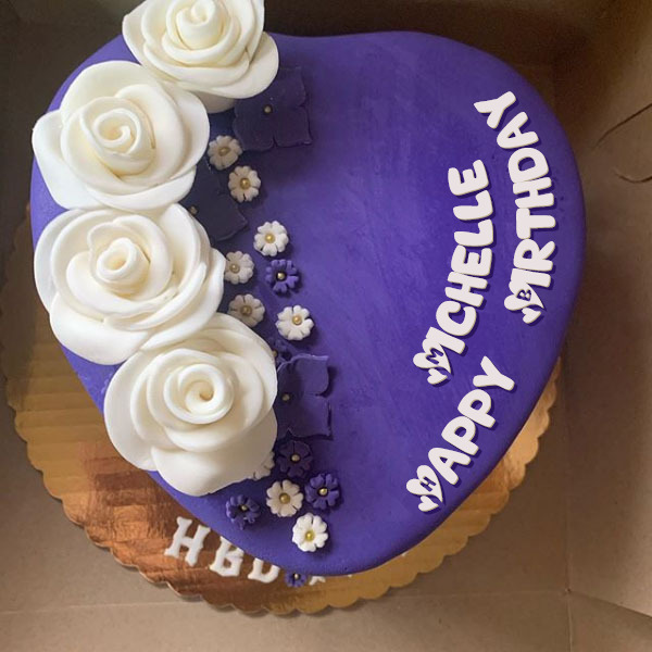 Happy Birthday Michelle Cakes Cards Wishes
