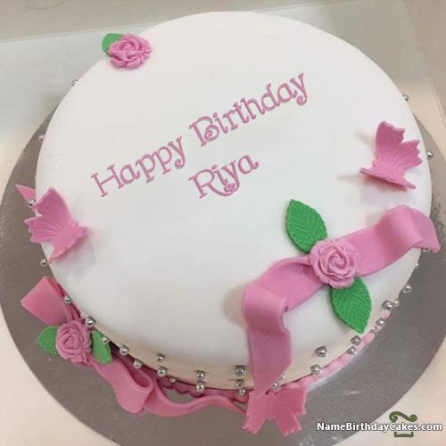 Happy Birthday Riya Cakes Cards Wishes